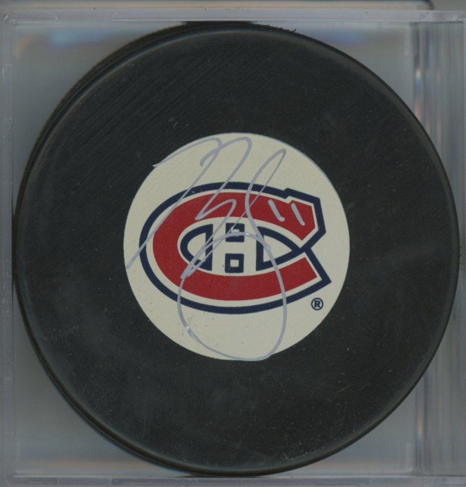 BRENDAN GALLAGHER Autographed Montreal Canadiens Hockey Puck