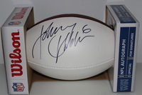 NFL - RAMS JOHNNY HEKKER SIGNED PANEL BALL