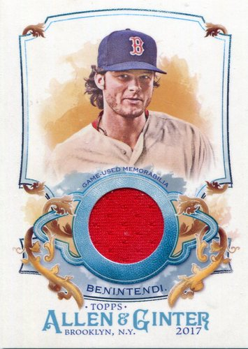 Photo of 2017 Topps Allen and Ginter Relics Andrew Benintendi
