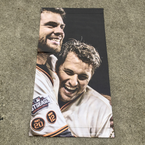 Photo of San Francisco Giants - MLB Authenticated 2017 Joe Panik & Brandon Belt Street Banner