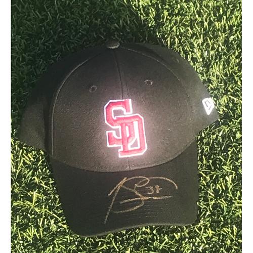 Photo of Joe Smith Autographed and Game-Used Stoneman Douglas Eagles Cap