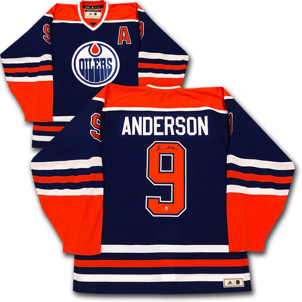 Glenn Anderson Autographed Edmonton Oilers adidas Team Classics Authentic  Vintage Jersey 034caa85c
