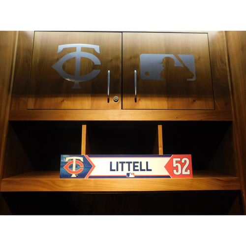 Photo of 2018 Zack Littell Game-Used Locker Name Plate