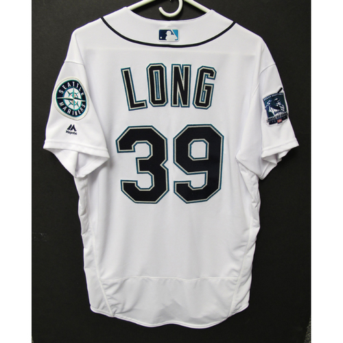 Photo of Seattle Mariners 2019 Shed Long Team-Issued Jersey - Edgar Martinez Hall of Fame Celebration Weekend - August 9-11