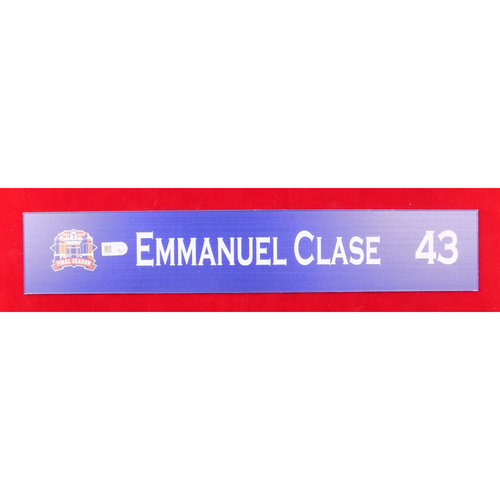 Photo of Final Season Game-Used Locker Tag - Emmanuel Clase - 9/13/19 vs OAK