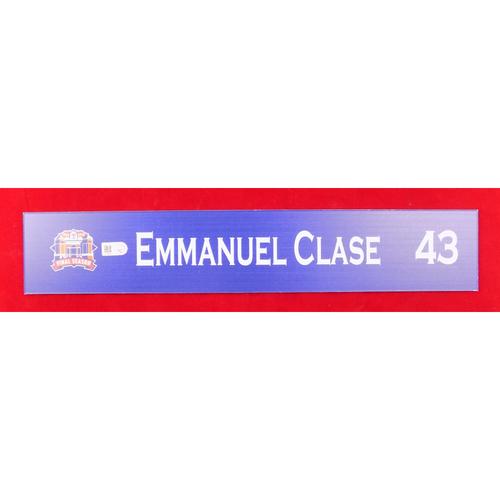 Final Season Game-Used Locker Tag - Emmanuel Clase - 9/13/19 vs OAK