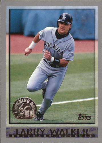 Photo of 1998 Topps Opening Day #2 Larry Walker