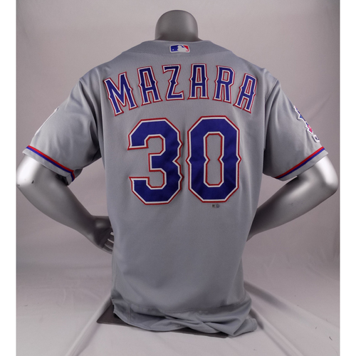 Photo of Final Season Game-Used Grey Jersey - Nomar Mazara - 9/5/19, 9/21/19