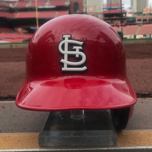 Cardinals Authentics: Randy Arozarena Game Worn Home Red Helmet