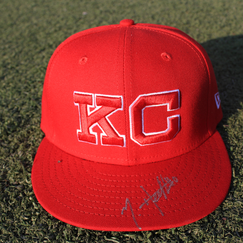 Photo of Autographed Monarchs Cap: Nick Heath (STL @ KC 9/22/20)