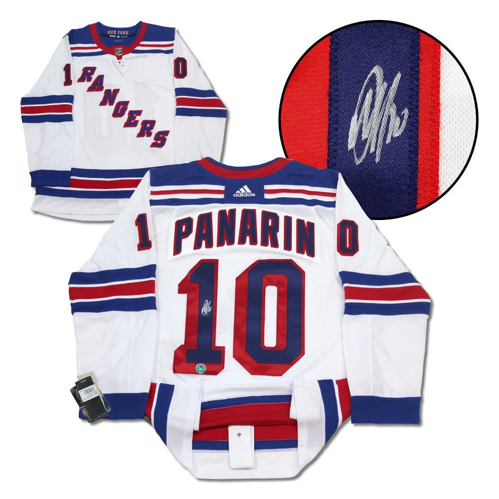 Artemi Panarin New York Rangers Autographed White Adidas Authentic Hockey Jersey