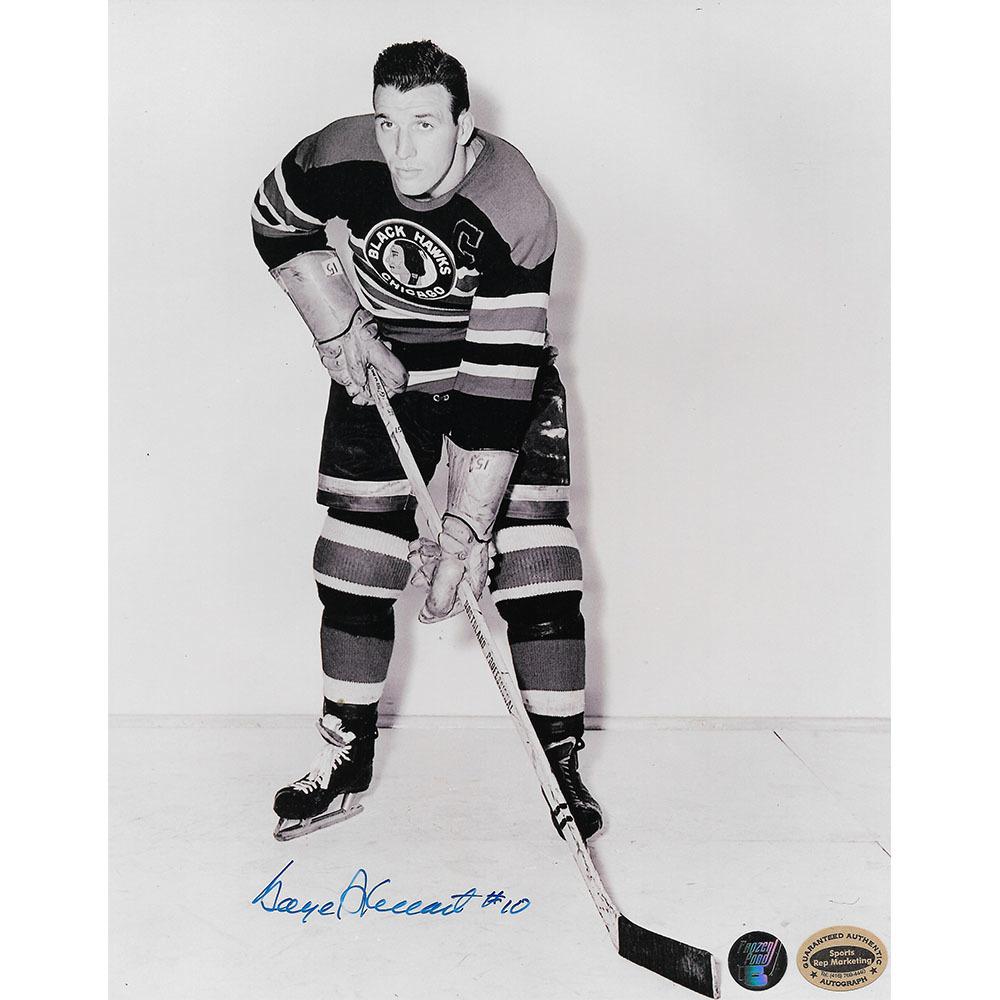 Gaye Stewart Autographed Chicago Blackhawks 8X10 Photo