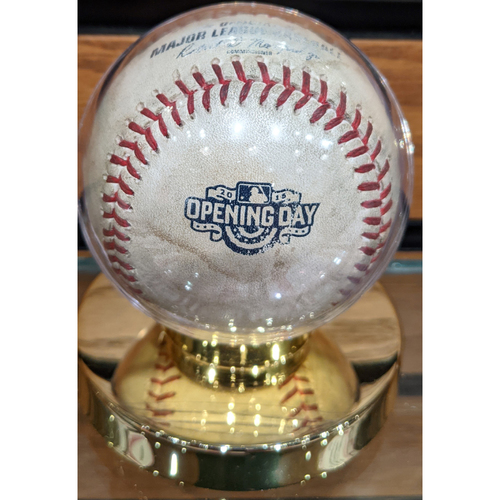 April 6, 2015 Red Sox at Phillies Opening Day Game Used Baseball - Jake Diekman to Mike Napoli