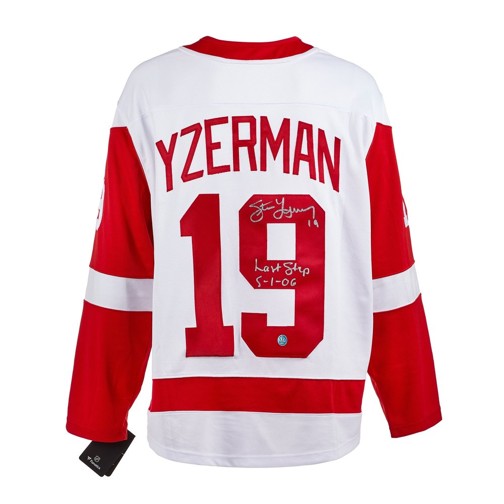 Steve Yzerman Detroit Red Wings Signed & Dated Last Step Fanatics Jersey