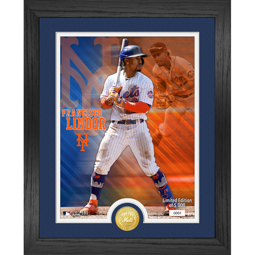 Photo of Serial #1! New York Mets Francisco Lindor Bronze Coin Photo Mint