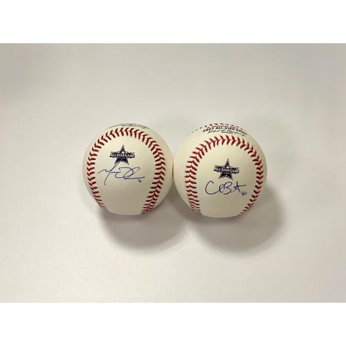 Photo of Matt Olson & Chris Bassitt Autographed 2021 All-Star Game Baseball