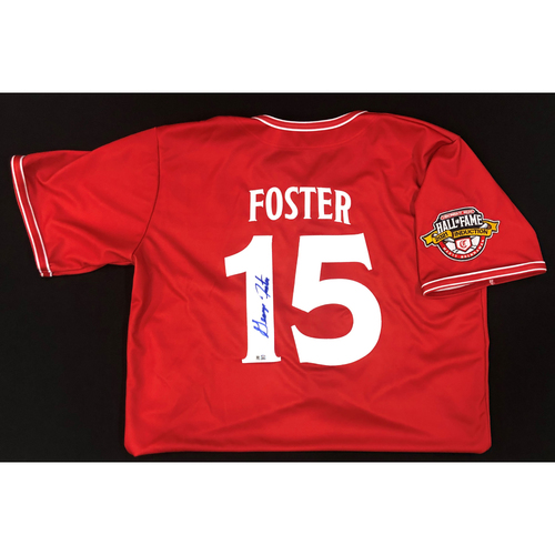 Photo of George Foster - AUTOGRAPHED Game Used Jersey: Reds Hall of Fame Legends Game - Coaching Staff