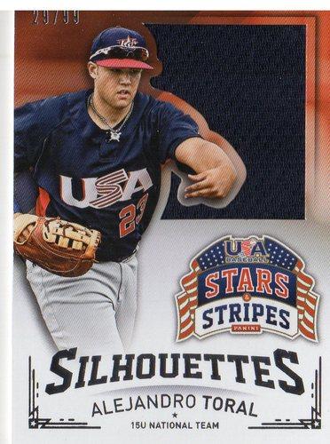 Photo of 2015 USA Baseball Stars and Stripes Silhouettes Jerseys #5 Alejandro Toral/99