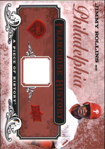 Photo of 2008 UD A Piece of History Franchise History Jersey Red #FH40 Jimmy Rollins