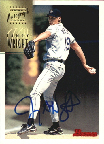 Photo of 1997 Bowman Certified Blue Ink Autographs #CA87 Jamey Wright