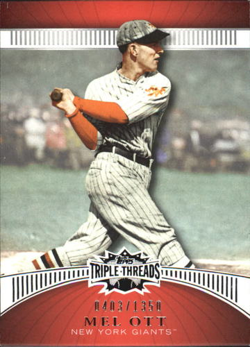 Photo of 2010 Topps Triple Threads #81 Mel Ott