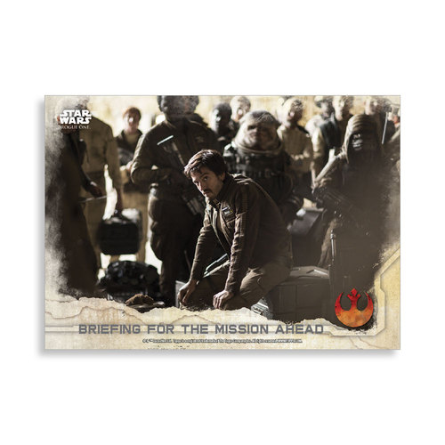 Briefing for the Mission Ahead 2016 Star Wars Rogue One Series One Base Poster - # to 99