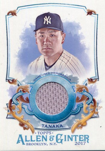 Photo of 2017 Topps Allen and Ginter Relics  Masahiro Tanaka
