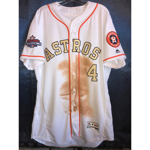 Photo of 2018 World Series Champions Ring Ceremony - George Springer Game-Used Jersey