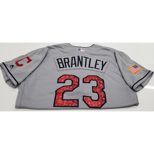 Photo of Michael Brantley Game-Used 2018 Stars & Stripes Jersey