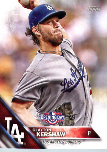 Photo of 2016 Topps Opening Day #OD100 Clayton Kershaw