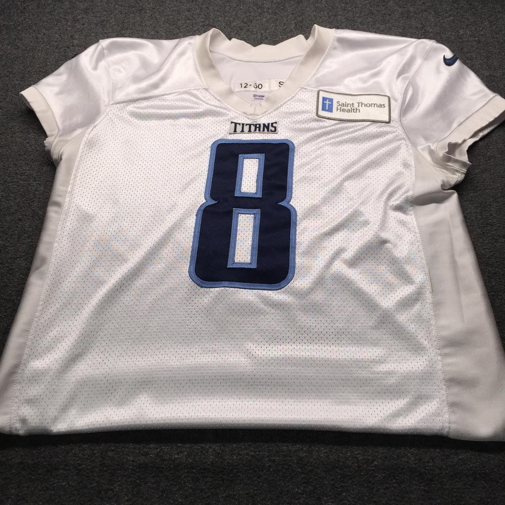 NFL Auction | Titans - Ryan Succop Signed Practice Worn Titans ...
