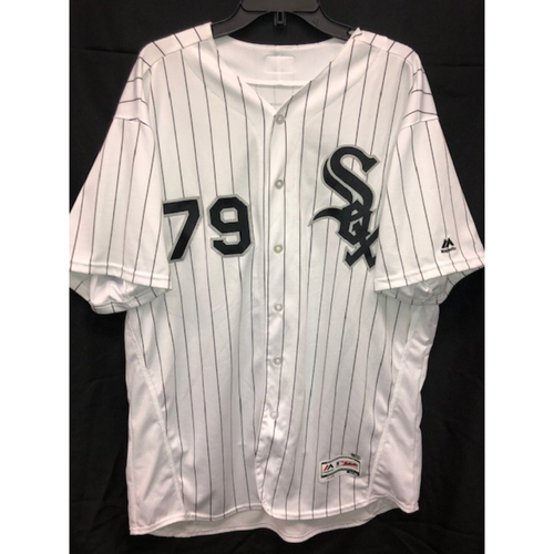 Photo of Jose Abreu Team-Issued 2017 White Pinstripe Jersey