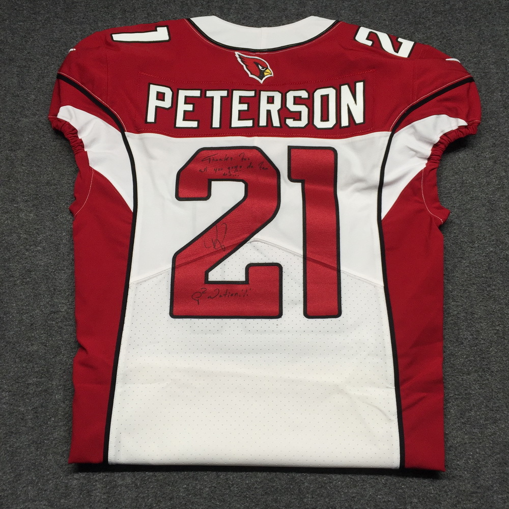 NFL Auction | STS - Cardinals Patrick Peterson Signed and Game ...