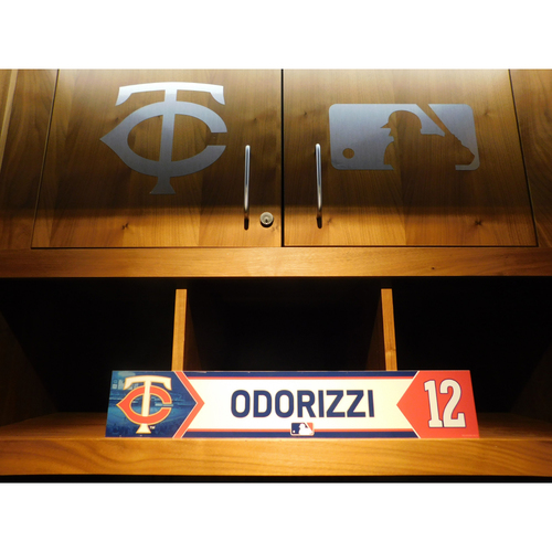 Photo of 2018 Jake Odorizzi Game-Used Locker Name Plate