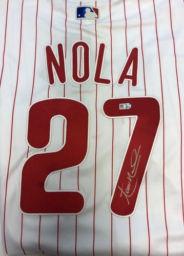 Photo of Aaron Nola Autographed Phillies Authentic Jersey