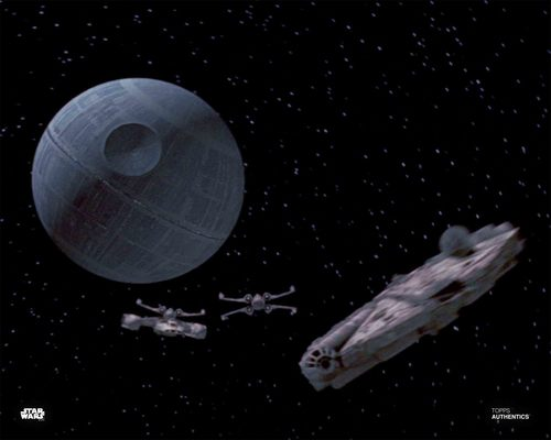 The Millennium Falcon and The Death Star