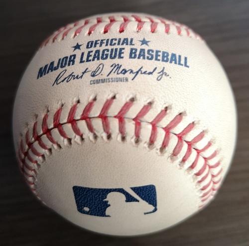 Photo of Authenticated Game Ready Baseball - MLB Debut for Vladimir Guerrero Jr. (Apr. 26, 19 vs OAK)