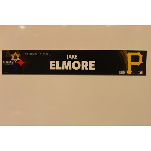 Photo of 2019 Game Used Locker Nameplate - Jake Elmore