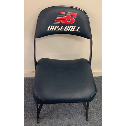 Photo of Ichiro Suzuki August 1, 2014 Game Used Visitor's Locker Room Clubhouse Chair