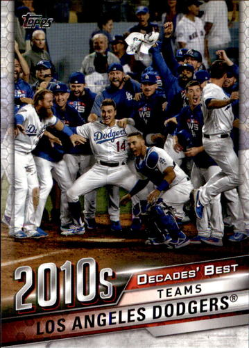Photo of 2020 Topps Decades' Best #DB85 Los Angeles Dodgers