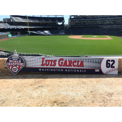 Photo of Luis Garcia Game-Used 2020 Locker Tag