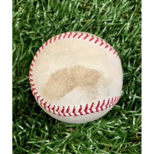 Photo of Game Used Baseball: Bryce Harper strike out and J.T. Realmuto single off Ryan Yarbrough - Kevin Kiermaier throws out Andrew McCutchen at home - September 26, 2020 v PHI