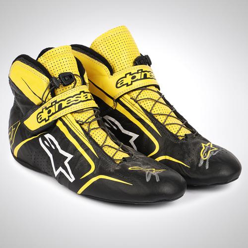 Photo of Nico Hulkenberg 2018 Signed Race-worn Race Boots
