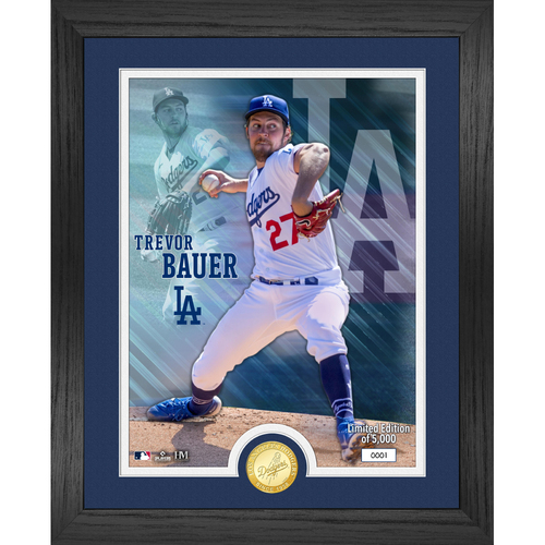 Photo of Serial #1! Los Angeles Dodgers Trevor Bauer Bronze Coin Photo Mint