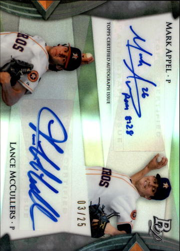 Photo of 2014 Bowman Platinum Autograph #DAAM Lance McCullers/Mark Appel RC AUTO 3/25