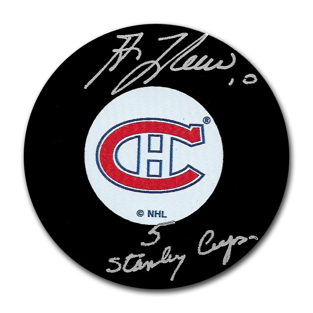 Guy Lafleur Autographed Montreal Canadiens Puck w/5 STANLEY CUPS Inscription