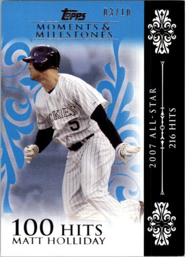 Photo of 2008 Topps Moments and Milestones Blue #125-100 Matt Holliday