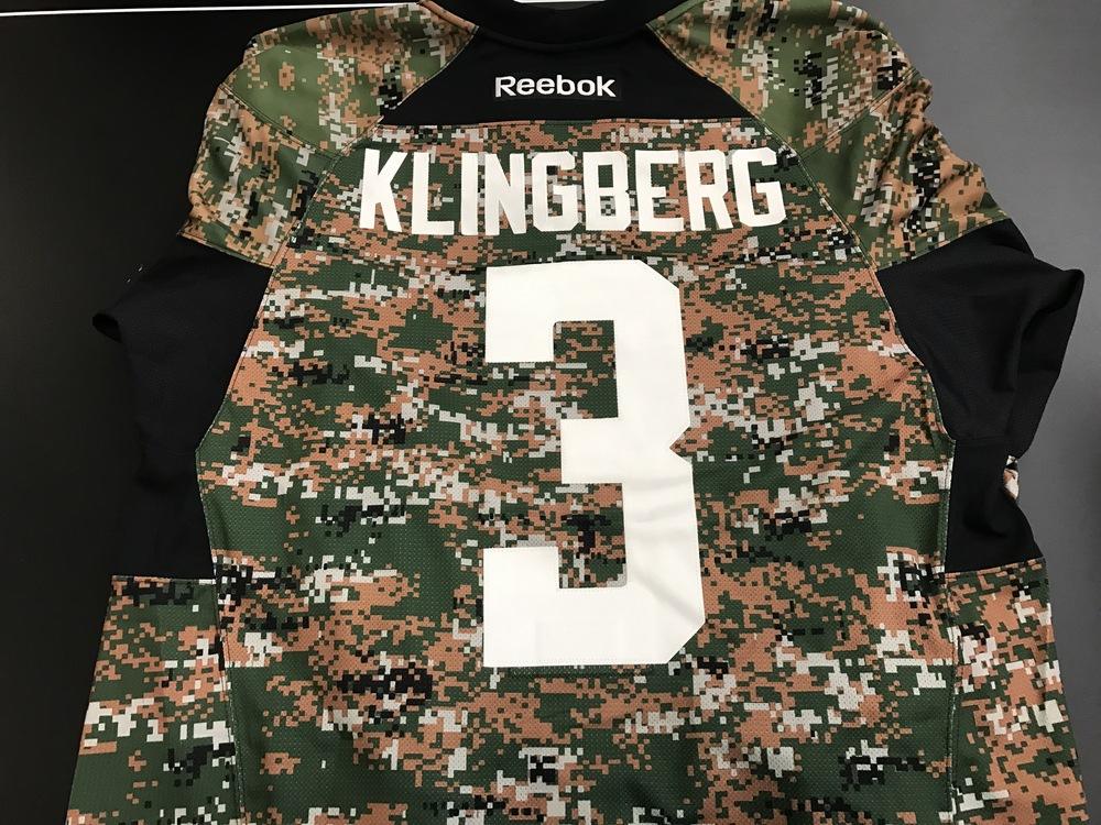 official photos 5caff 41714 Dallas Stars, John Klingberg, warm-up worn camo jersey - NHL ...