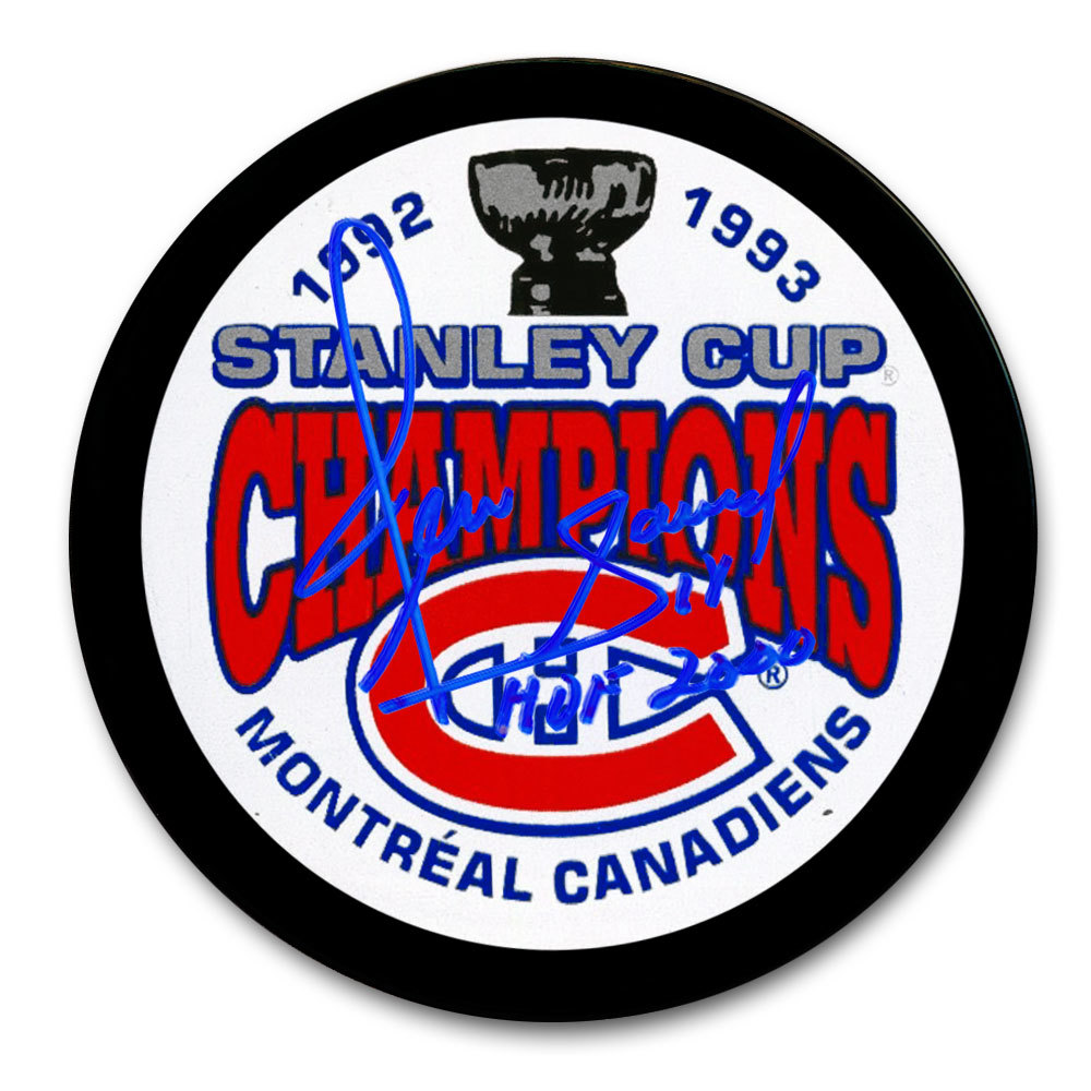 Denis Savard Montreal Canadiens 1993 Stanley Cup Champions Autographed Puck