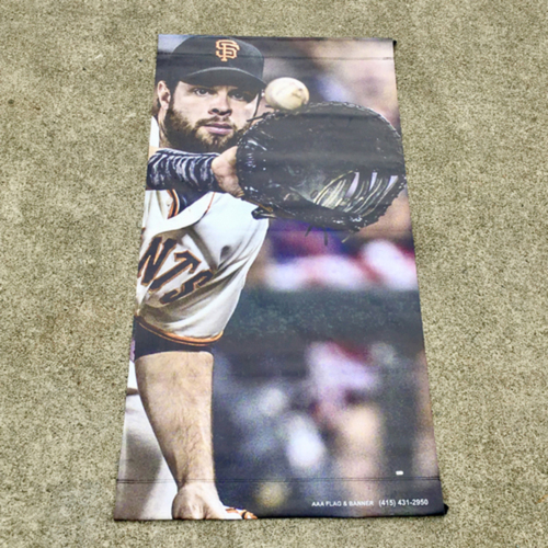 Photo of San Francisco Giants - MLB Authenticated 2017 Brandon Belt Street Banner